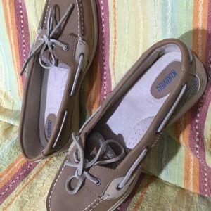 Khombu Leather Top Siders Size 11M